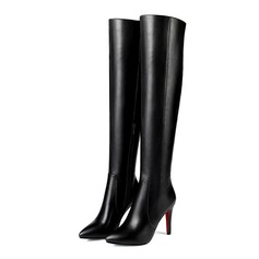 Women's Leatherette Stiletto Heel Platform Over The Knee Boots shoes (088097989)