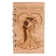 Wooden wedding laser love Lu notebook
