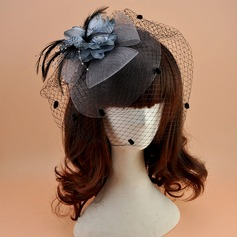 Dames Elegant Polyester met Feather Fascinators