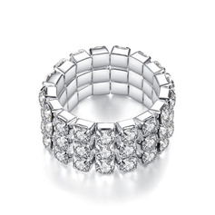Ladies' Simple Alloy/Rhinestones Rings