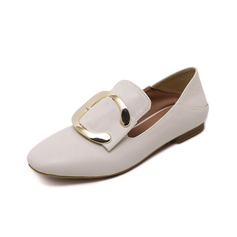 Women's Leatherette Low Heel Flats Closed Toe shoes