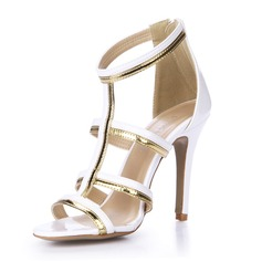 Patent Leather Sandals Pumps Peep Toe shoes