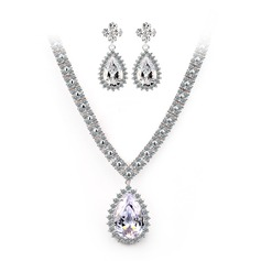 Beautiful Zircon/Platinum Plated Women's Jewelry Sets