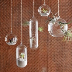 Diameter 10cm Lovely Simple Hanging Glass Vase (Sold in a single piece)