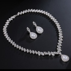 Classic Zircon Ladies' Jewelry Sets
