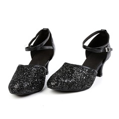 Women's Leatherette Sandals Ballroom Swing With Hollow-out Dance Shoes