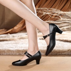 Women's Real Leather Heels Pumps Character Shoes Dance Shoes