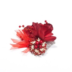 Beautiful Alloy/Silk Flower Combs & Barrettes