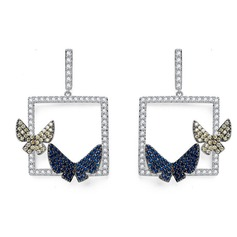 Exotic Alloy/Zircon Ladies' Earrings