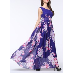 Chiffon With Print Maxi Dress (199129092)