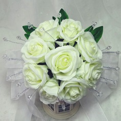 Pretty Hand-tied Satin Bridal Bouquets