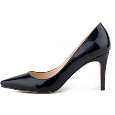 Women's Patent Leather Stiletto Heel Pumps Closed Toe shoes (085113511)