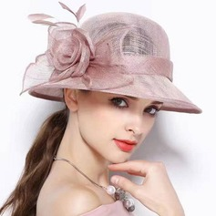 Dames Elegant Batist met Feather/Zijde Bloemen Fascinators