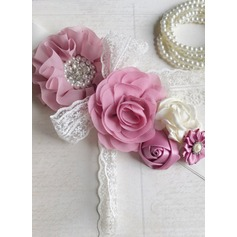 Lovely/Flower Girl Satin Sash With Flower
