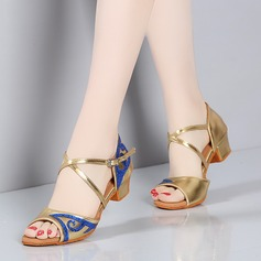 Kids' Satin Sandals Latin Dance Shoes
