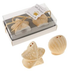 Seashell and Starfish Slat and Pepper Shakers Wedding Favor