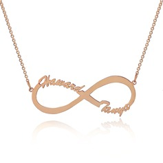 Custom 18k Rose Gold Plated Silver Infinity Two Name Necklace Infinity Name Necklace - Birthday Gifts Mother's Day Gifts