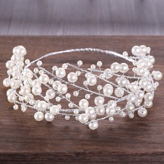 Fashion Imitation Pearls Tiaras With Venetian Pearl (Sold in single piece)