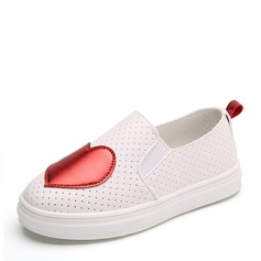 Jentas Lukket Tå Loafers & Slip-Ons Leather flat Heel Flate sko Sneakers & Athletic