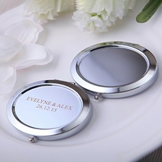 Personalized Oval Iron Compact Mirror