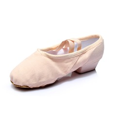 Women's Nubuck Heels Ballet Dance Shoes