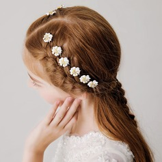 With Flower Hairpins (set Of 8)