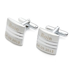 Personalized Square Stainless Steel Cufflinks
