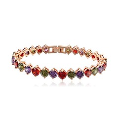 Beautiful Zircon/Gold Plated Ladies' Bracelets
