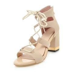 De mujer Ante Tacón ancho Sandalias Salón con Cordones zapatos