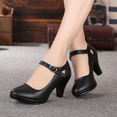 Women's Real Leather Sandals Character Shoes Dance Shoes