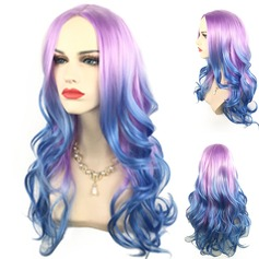 Long Wavy Middle Bang  Ombre  Cosplay Synthetic Wig