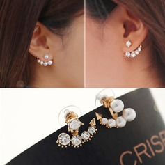 Nice Alloy Imitation Pearls With Imitation Pearl Ladies' Fashion Earrings