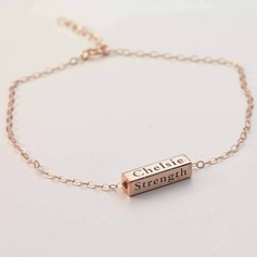 Personalized Ladies' Fancy Rose Gold Plated With Tube Bar Bracelets For Bride/For Bridesmaid/For Friends