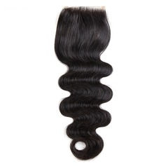 "4""*4"" 3A Body Human Hair Closure (Sold in a single piece)"