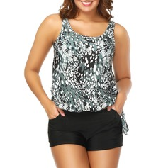 Dot Strap Tankini Swimsuit