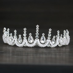 Ladies Exquisite Rhinestone/Alloy/Imitation Pearls Tiaras With Rhinestone (Sold in single piece)