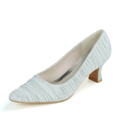 Women's Satin Low Heel Pumps With Others