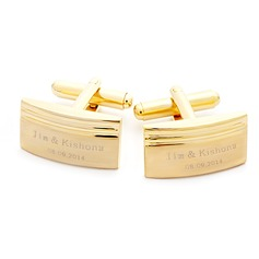 Personalized Delicate Stainless Steel Cufflinks (Set of 2)
