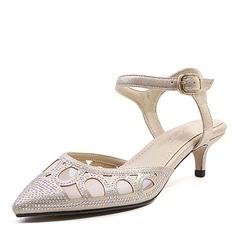 Femmes Similicuir Talon stiletto Sandales Escarpins Bout fermé Escarpins avec Boucle chaussures