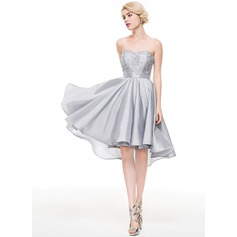 A-Line/Princess Sweetheart Asymmetrical Taffeta Cocktail Dress