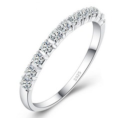 Simple Alloy/Silver Plated/Cubic Zirconia With Cubic Zirconia Ladies' Rings