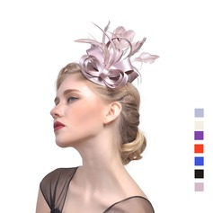 Ladies' Vintage Cambric With Feather Fascinators