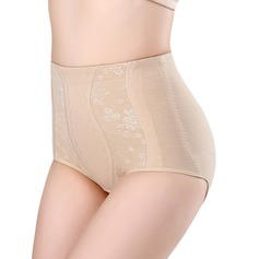 Women Sexy Cotton Breathability High Waist Panty Shapers With Jacquard Shapewear