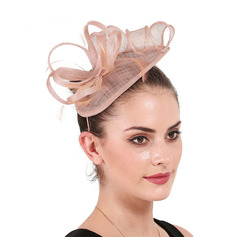Ladies' Simple/Eye-catching Cambric With Feather Fascinators/Kentucky Derby Hats