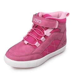 Girl's Leatherette Flat Heel Round Toe Closed Toe Ankle Boots Sneakers Boots With Velcro Lace-up