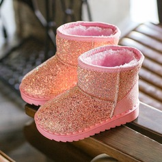 Unisex Sparkling Glitter Flat Heel Round Toe Boots With Sparkling Glitter