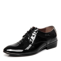 Men's Patent Leather Lace-up Casual Work Men's Oxfords