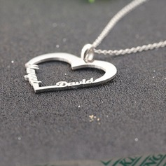 Personalized Ladies' Eternal Love 925 Sterling Silver With Heart Name Necklaces For Bridesmaid/For Friends