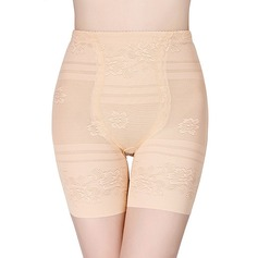 Women Sexy/Elegant/Casual Chinlon Breathability High Waist Panties With Jacquard Shapewear
