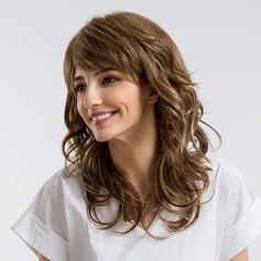 Wavy Synthetic Hair Human Hair Wigs
